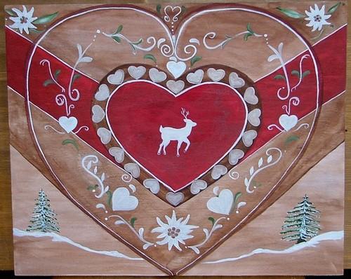 nathalie renzacci d coration d 39 int rieur tableau en bois le coeur le chamou poya poyas. Black Bedroom Furniture Sets. Home Design Ideas