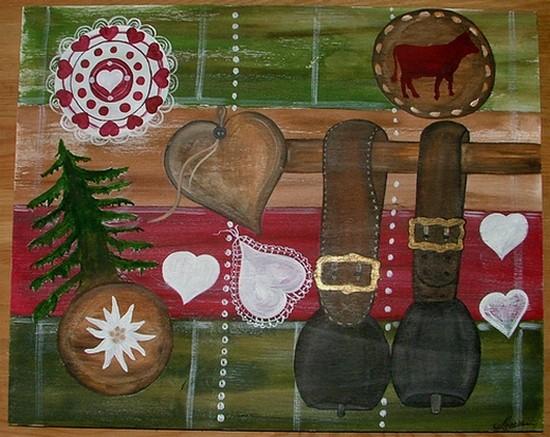 Nathalie renzacci d coration d 39 int rieur tableau en bois les snailles - Decoration chalet savoyard ...